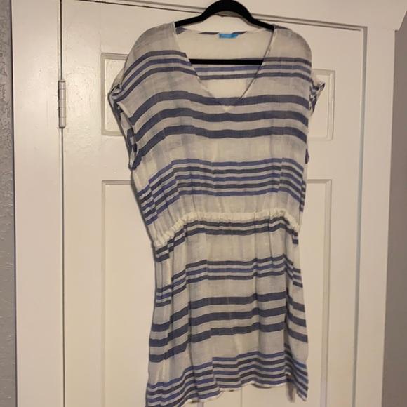J.McLaughlin linen stripe dress